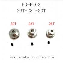 HENG GUAN HG P402 Parts Motor Gear Original 26T-28T-30T