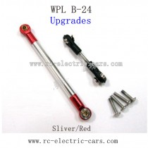 WPL B24 GAz-66 Upgrades-Silver Metal Connect Rod and Red Metal Ball Head