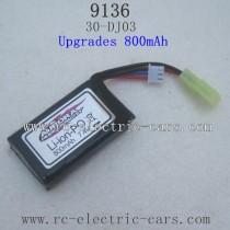 XINLEHONG TOYS 9136 Upgrades Parts-Battery 800mah