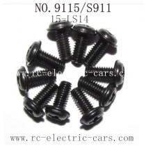 Xinlehong toys 9115 S911 parts Screw 15-LS14