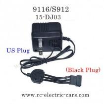XINLEHONG Toys 9116 Parts Charger 15-DJ03 Black Plug