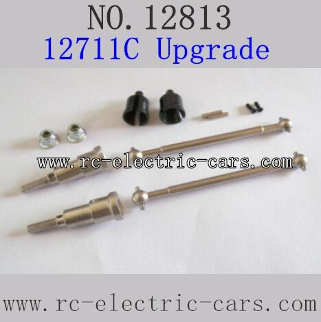 HBX 12813 Survivor MT Parts-Upgrade Metal Drive Shafts Rear 12711C