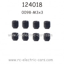 WLTOYS 124018 Parts 0098 M3x3 Screws for Motor