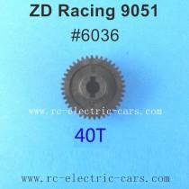 ZD Racing 9051 Parts-40T Main Gear 6036