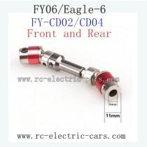 FEIYUE Eagle-6 Car Upgrade parts-Wheel Transmission FY-CD02 FY-CD04 Red