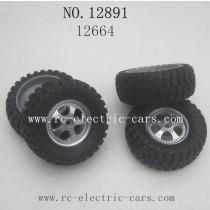 Haiboxing 12891 Car Parts-Wheels Complete 12664