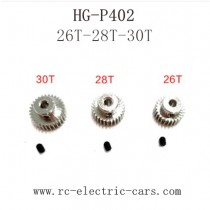 HENG GUAN HG P402 Parts Motor Gear Original 26T-28T-30T