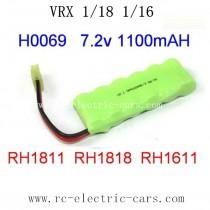 VRX RC Car 1/18 parts-H0069 7.2V 1100mAH Battery