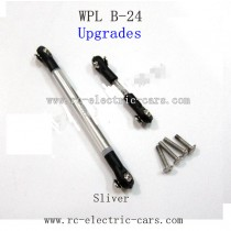 WPL B24 GAz-66 Upgrades-Silver Metal Connect Rod Black Plastic Ball Head