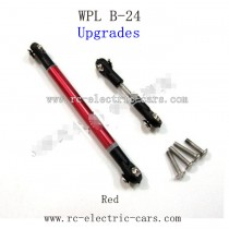 WPL B24 GAz-66 Upgrades-Red Metal Connect Rod Black Plastic Ball Head
