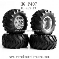 Heng Guan HG P-407 Parts Wheels Complete HG-ASS-13