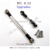 WPL B24 GAz-66 Upgrades-Silver Metal Connect Rod and Black Metal Ball Head