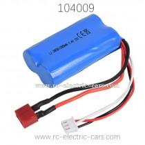 WLTOYS WL-TECH XK 104009 Parts Battery 7.4V 1500mAh