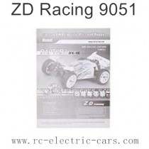 ZD Racing 9051 Parts-English Manual