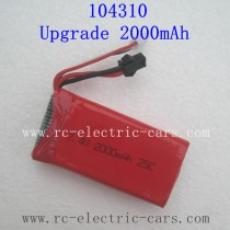 WLTOYS WL TECH 104310 Upgrade 2000mAh Battery