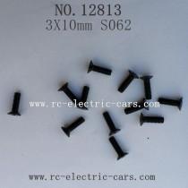 HBX 12813 CAR Survivor MT Parts-Countersunk Screw 3X10mm S062