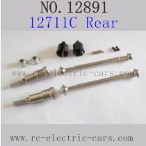 Haiboxing 12891 Parts-Upgrade Metal Drive Shafts Rear 12711C