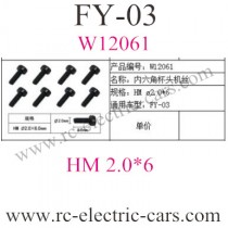 FEIYUE FY-03 Car cup head Screws